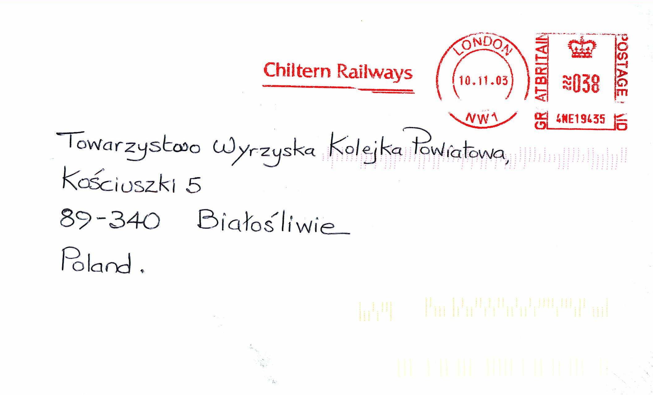 List do TWKP 2003
